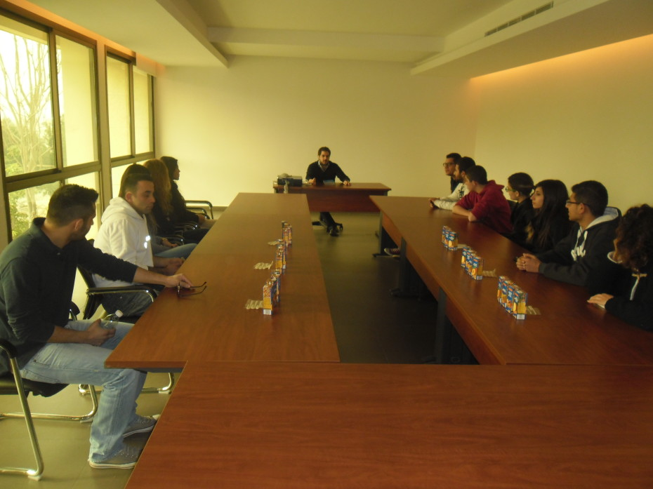 First stop was the conference room, where Mr. Gharios gave a brief introduction about LibanJus and its products